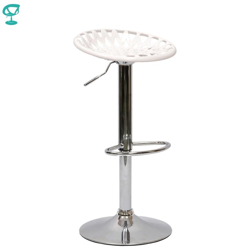 94886 Barneo N-37 Plastic High Kitchen Breakfast Bar Stool Swivel Bar Chair White Free Shipping In Russia
