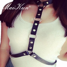 New Punk Rock Street Style Harajuku Handmade Belts for Women Faux Leather Harness Women Waist Belt Straps Sexy Body Bondage sexy faux pearl decorated body chaim for women