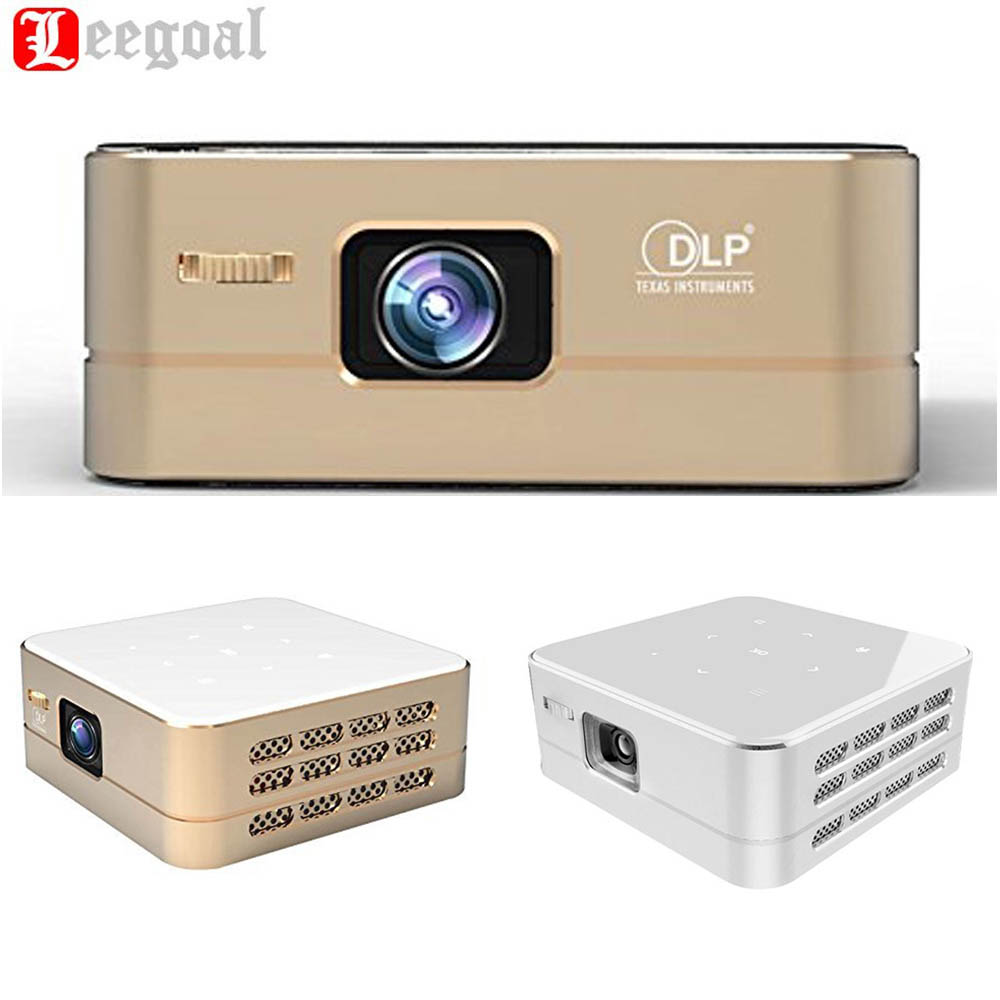 P96 Smart Pico Projector Portable Wireless Projector LED Hdmi HD 100 Lumens Wifi Bluetooth Mini Home Theater Android Projector