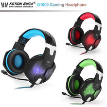 NEW KOTION EACH G1000 Gaming Headset Wired earphone Game headphone with microphone led noise canceling headset for computer pc