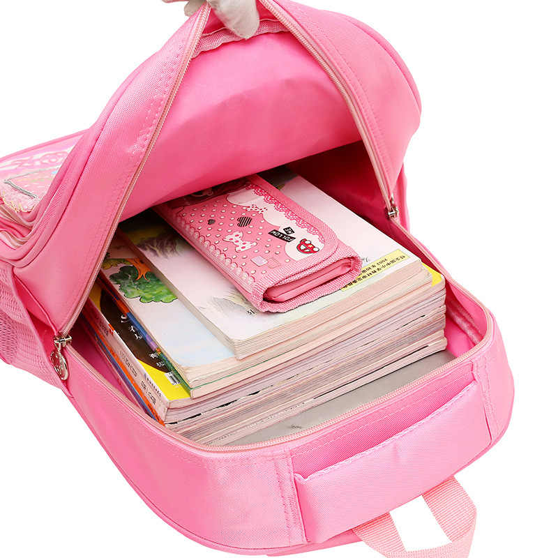 Школьный рюкзак принцессы с героями мультфильмов для девочек 1-4 класса начальной школы, школьный рюкзак для детей, Детский Рюкзак mochila