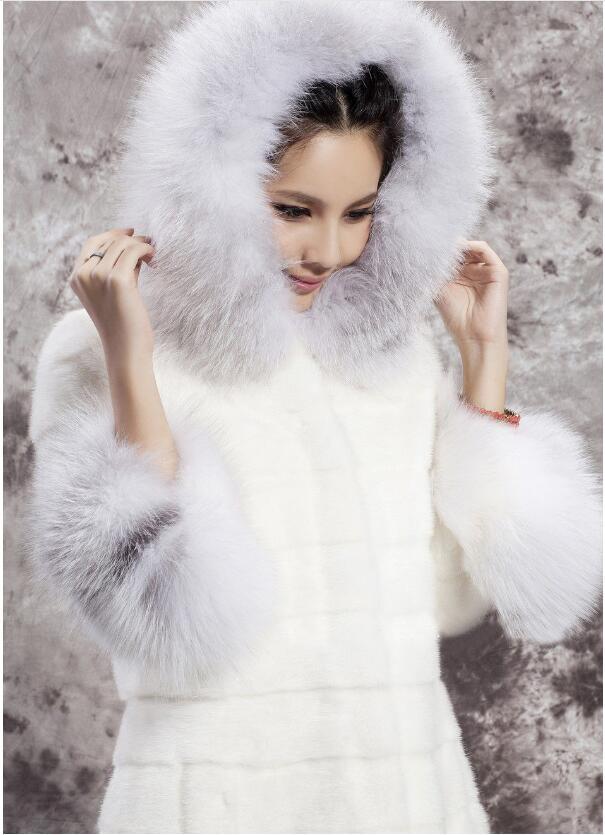 Imitation Long Femmes unis Manteau L'europe Lapin Gamme Haut États Mode Col Les De Fourrure Et Tempérament vxaBqxRO