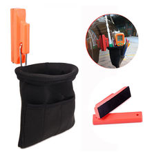 EHDIS Portable Strong Magnetic Tool Bag Holder Gripper for Holding Vinyl Car Wrap Tool Set Window Tint Squeegee Knife Magnet Bag