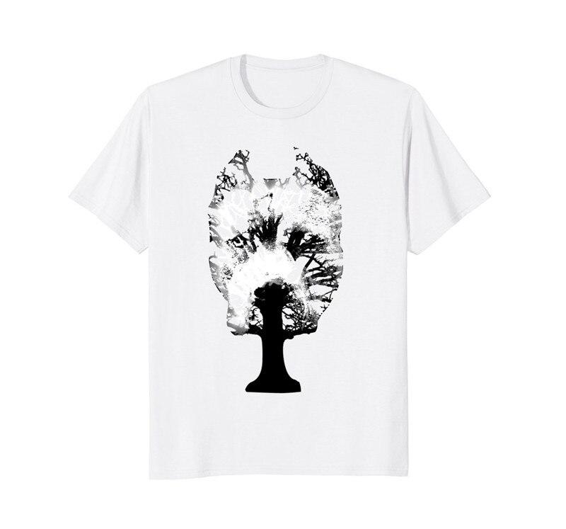 Последняя новинка Для мужчин с круглым вырезом питбуль дерево с коротким рукавом футболки
