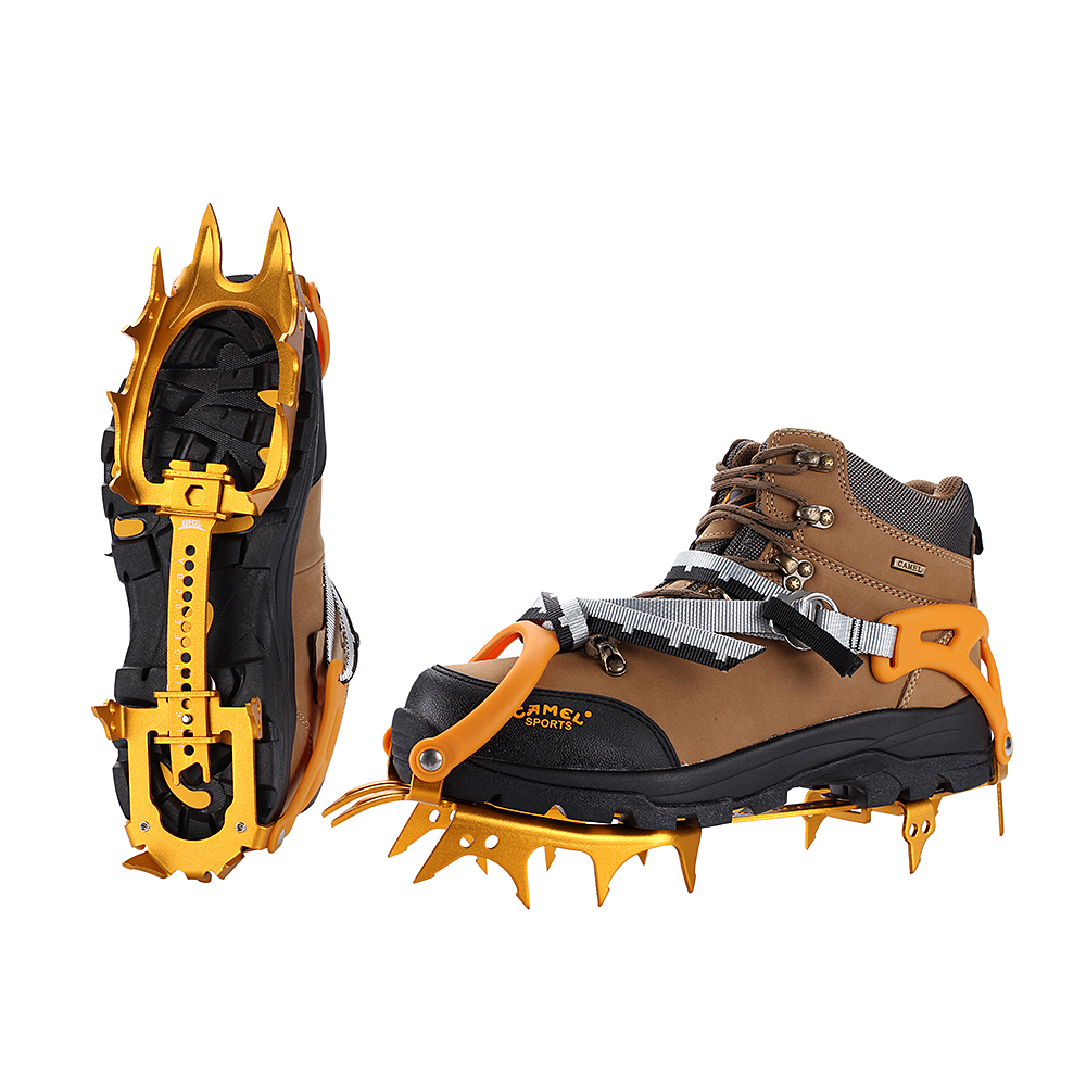 BRS 14 Teeth Ice Grippers Walking Crampons Ultralight Aluminium Alloy Mountaineering Crampons Equipment BRS S3