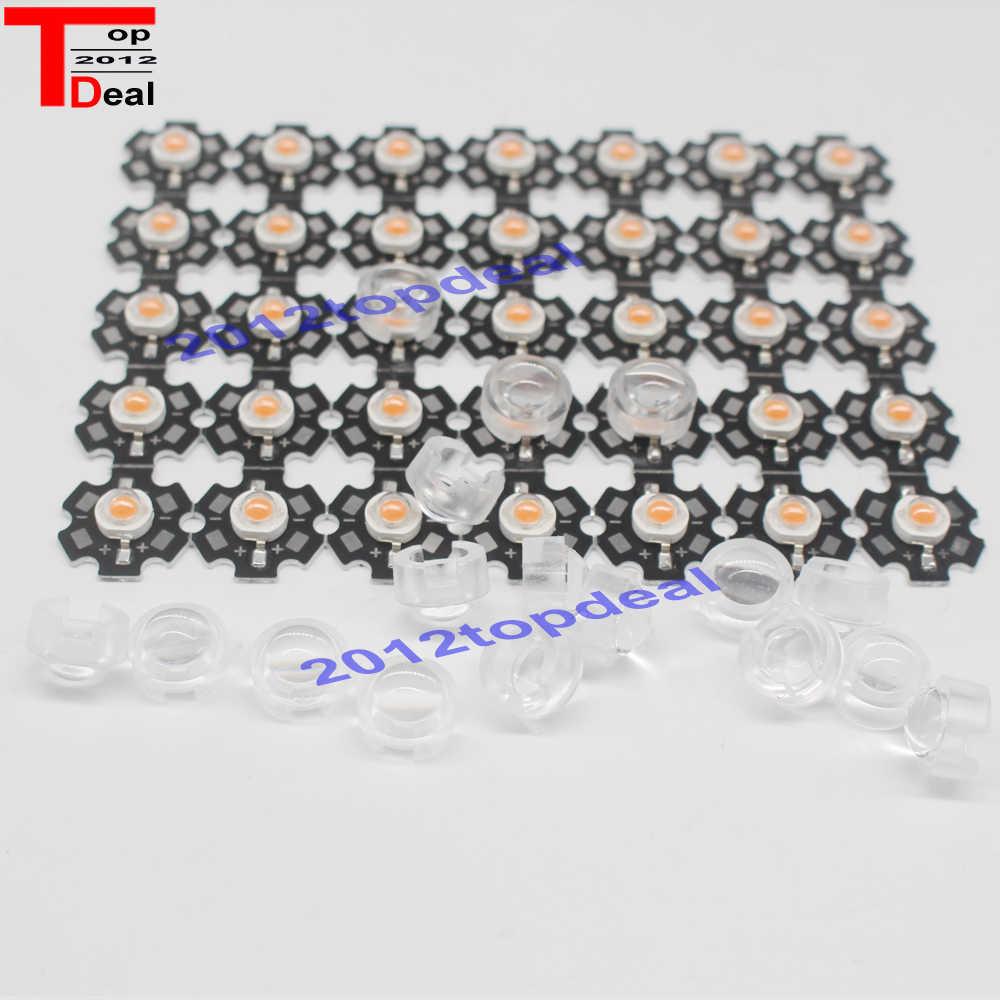 20 stücke 13mm * 10mm mini Led Linse Halter 30 45 60 90 Grad Für 1 watt 3 watt LED High Power Birne Bead