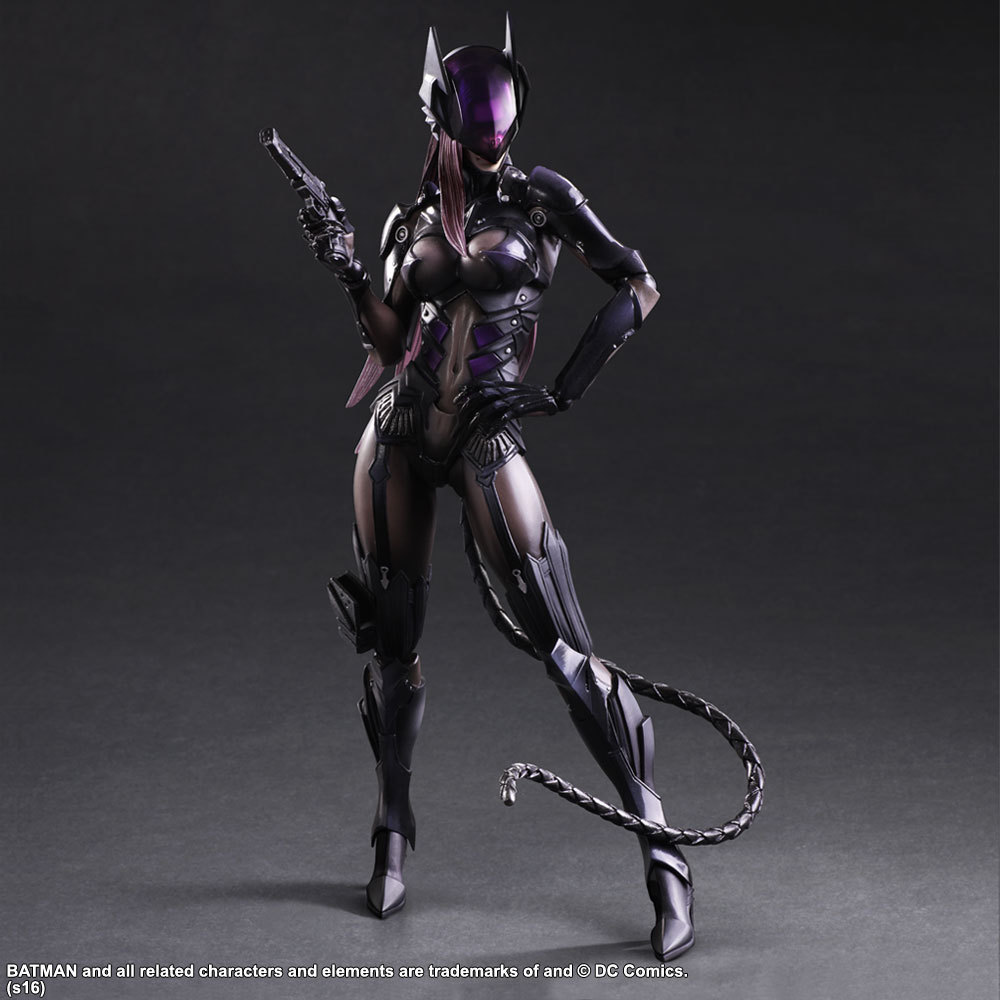 PLAY ARTS 27cm Catwoman Action Figure Model Toys halo 5 guardians play arts reform master chief action figure