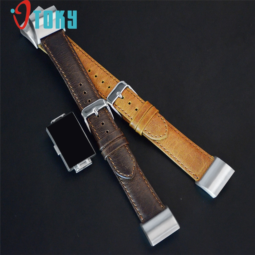 OTOKY Watchbands Leather Buckle Watch Strap Strap Horses Belt For Fitbit Charge2 Watch