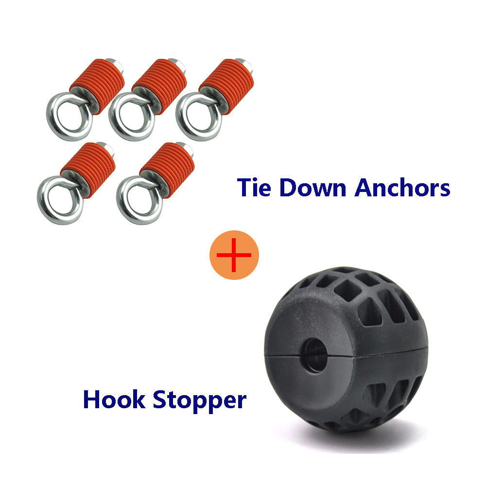 KEMiMOTO Tie Down Anchors & Winch Guard Cable Stop Hook Stopper For Polaris RZR 570 S 900 800 1000 XP Sportsman 110 400 450
