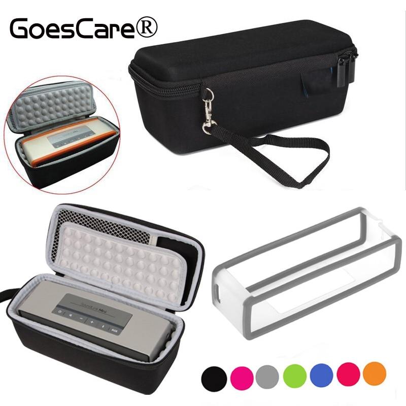bilder für EVA Reise Carry Lagerung Fall Abdeckung Box + Weichen TPU Silikon Tasche Für Bose Soundlink Mini 2/Mini drahtlose Bluetooth Lautsprecher