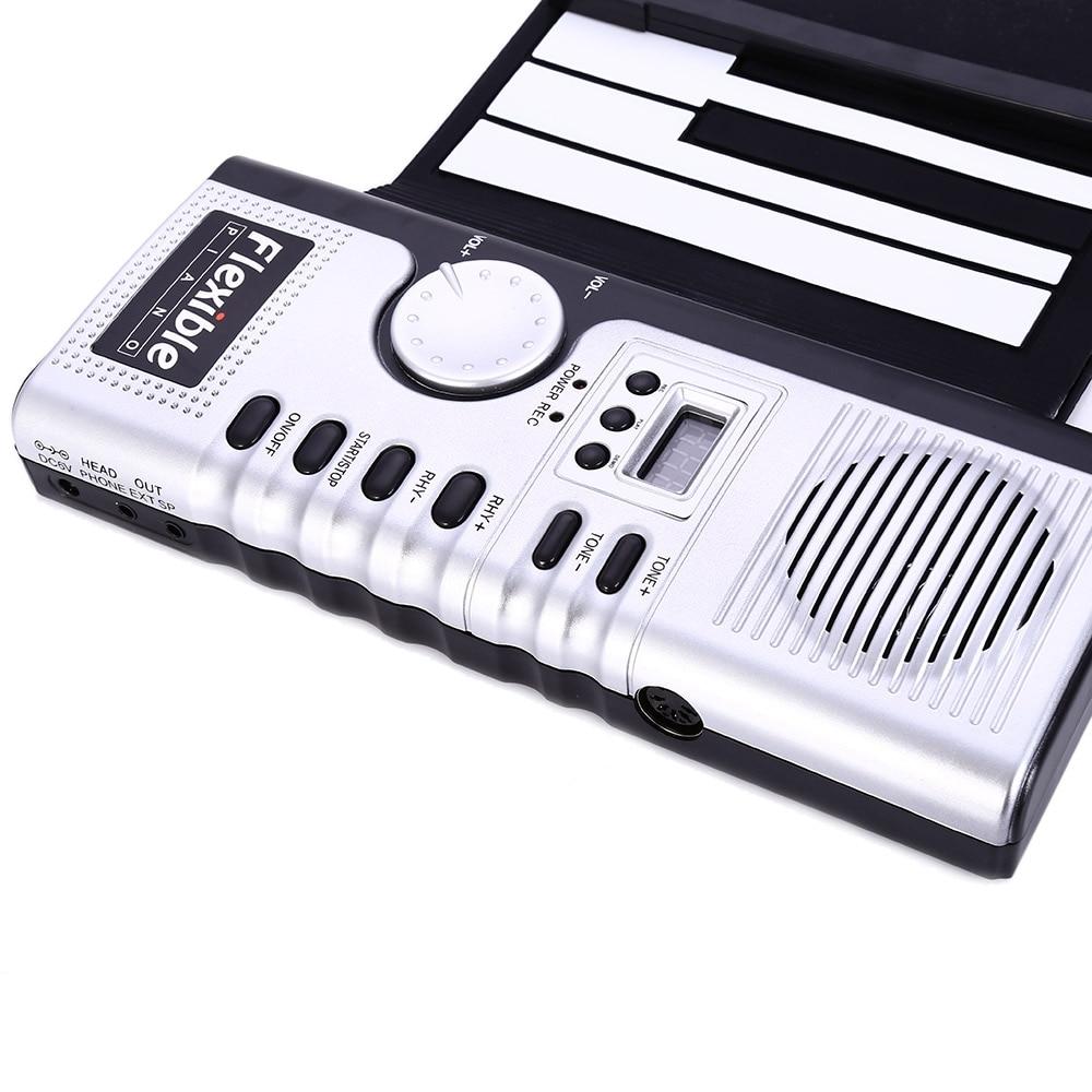 Clavier professionnel 61 touches Piano silicone Flexible retrousser Piano silicium outil de formation électronique préliminaire instrument musical - 3