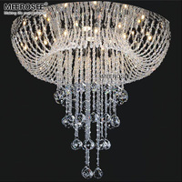 Modern Crystal Ceiling Light Fixture Surface Mounted Crystal Lamp For Living Room Bedroom Crystal Lustres De