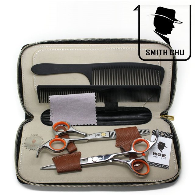 Free ship,Cost-effective Scissors hairdressing scissors Suite,hair scissors,CL34,Smith Chu,Free Freight