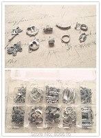 (مجوهرات قلادة و قفل) 80 قطعة/المجموعة ميكس 10 نمط العتيقة التبت فضة المعلقات وموصلات النتائج مجوهرات وكماليات