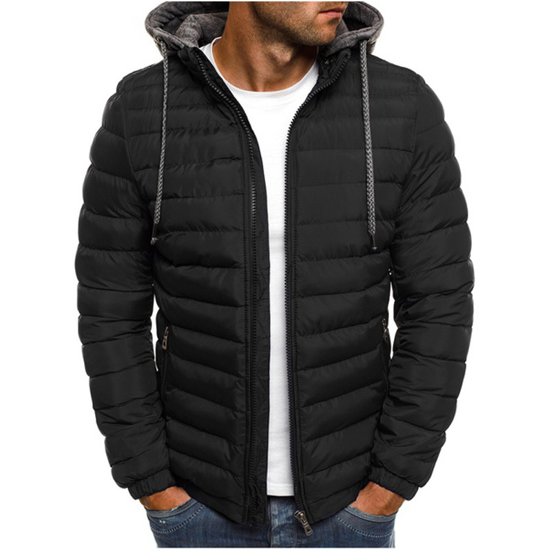 ZOGAA Hot Sale Men Parkas Man 39 s Casual Comfortable Coat High Quality Warm for Winter Warm Hooded Jackets Wholesale in Parkas from Men 39 s Clothing