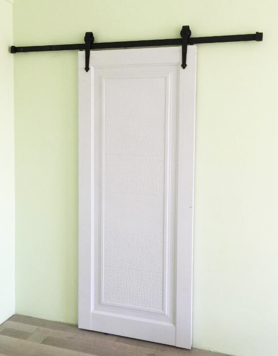 183cm rustic black country style sliding barn wood door for Interior sliding wood doors