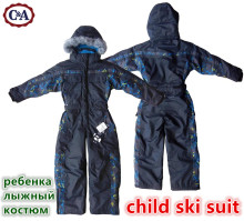 C A winter Rompers boys Snow Suit kids outdoor waterproof coat children skisuit girls overall windproof