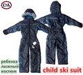 C & a de los mamelucos de invierno niños chicas generales nieve skisuit suit niños niños de la capa impermeable al aire libre a prueba de viento de algodón acolchado