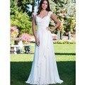 New Stock Vestidos De Novia US Size 4-18 White/Ivory Chiffon Pleated Appliques A-Line Wedding Dress Bridal Gown Robe de Mariage