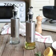 ZENCOO 300 ML Küche Öl Flasche Edelstahl dicht Sojasauce Essig Menage Dispenser Soße Boote