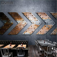 3d Photo Wallpaper Home Decor Stereo Metal KTV Bar Kitchen Wallpaper 3d Wall murals Black White Modern Custom Desktop Wall Paper