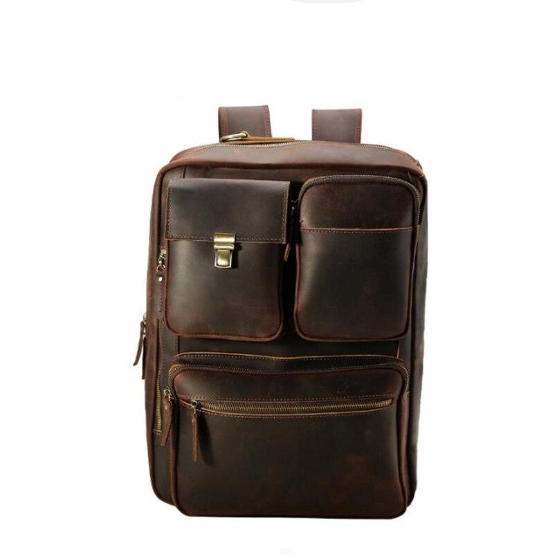 Große Laptoptasche Brown Leder Umhängetasche Herren Deep Marke Rindsleder Vintage Kapazität Messenger Aktentaschen Handgemachte Dokument Echtes Totes F8wOfnZ