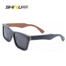 Hecho a mano De Madera gafas de Sol de Las Mujeres Diseñador de la Marca Gafas de sol Retro Vintage gafas de Sol Polarizadas de Conducción Gafas Gafas de Sol 68020