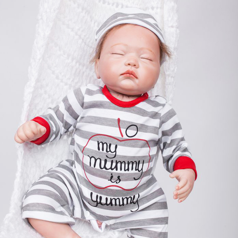 50cm Soft body silicone reborn sleeping boy baby dolls 20inch vinyl newborn Babies doll bebe reborn girls birthday gift цена