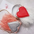 2016 Limited Top Flap Pocket Solid Flap Pocket Single Cell Phone Hasp Totes Feathers Women Hard Selling Clutch Love Bag Handbag