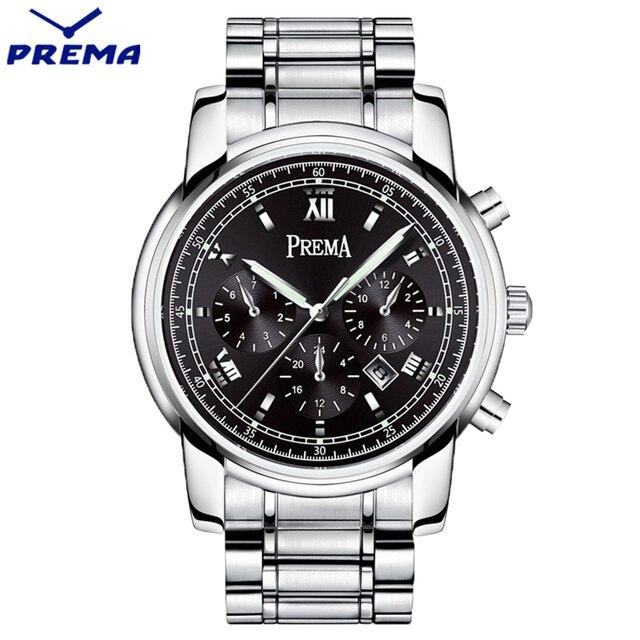 Reloj Hombre PREMA Watch Men Relogio Masculino Joker Fashion Style Reloj De Los Hombres Calendar Display Waterproof Orologi Uomo