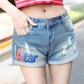 2016 Женщин джинсовые шорты Отверстие сексуальная девушка Моды новый Стиль Случайные короткие feminino короткие джинсы cintura alta