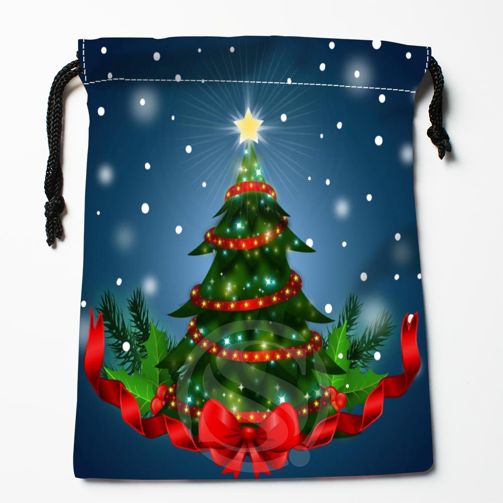 TF&160 New Christmas Tree #!39 Custom Printed Receive Bag Bag Compression Type Drawstring Bags Size 18X22cm #812#160TK