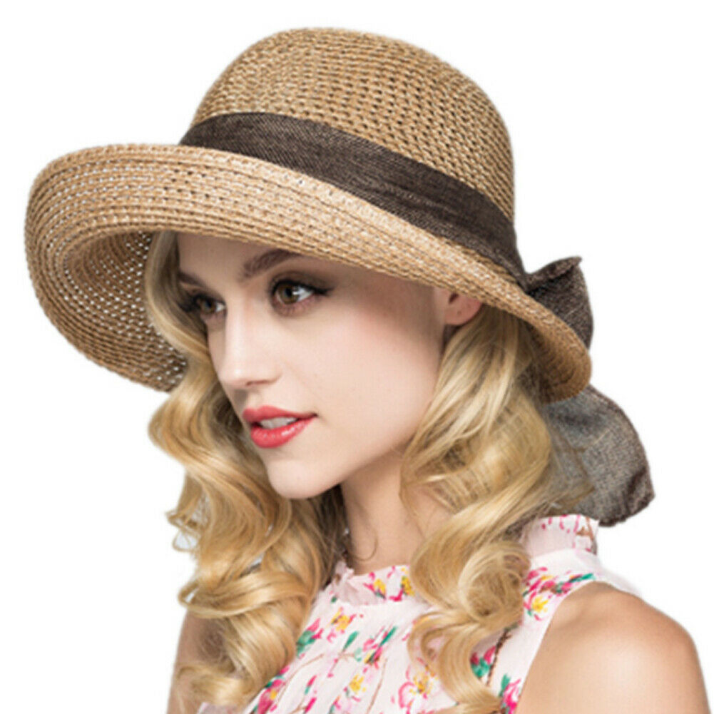 2019 New Summer Casual Women Lady Straw Hat Sun Hats Panama Cap Summer Beach Beachwear Sun Hat