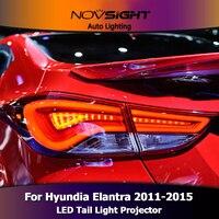 NOVSIGHT 2 шт. датчик светодиодный фары высокого качества Автомобильный свет в сборе для hyundai Elantra 2011 2015