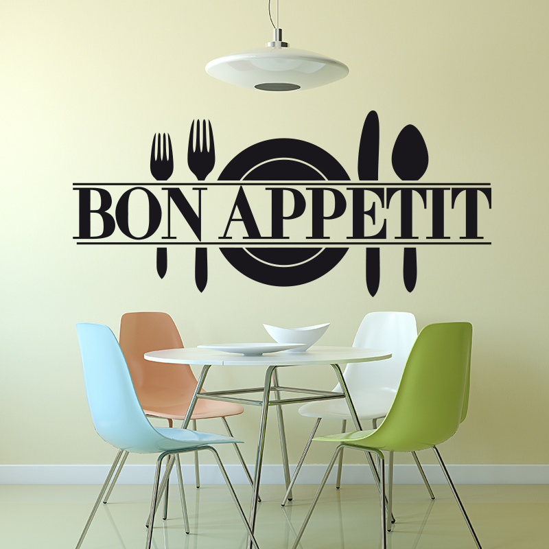 Aliexpress Buy Art Design Good Appetite Vinyl Wall Sticker French Version Home Decor DIY Dining Room Quotes House Decoration Decal From Reliable