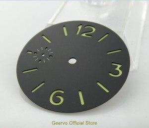 Image 4 - 36,3mm GEERVO moda steril ışıklı Sayı siyah dial fit 6497 hareketi erkek saati arama 06