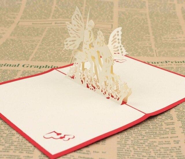 10 Stücke 3D Liebe Engel Handgemachte Kirigami Origami Hochzeit  Einladungskarten Greeding Geburtstagskarte Postkarte