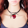 2016 New Wholesale Velvet Choker Necklace Long Rope Strip Multilayer Leather Heart Pendant Fashion Collar for Women Jewelry