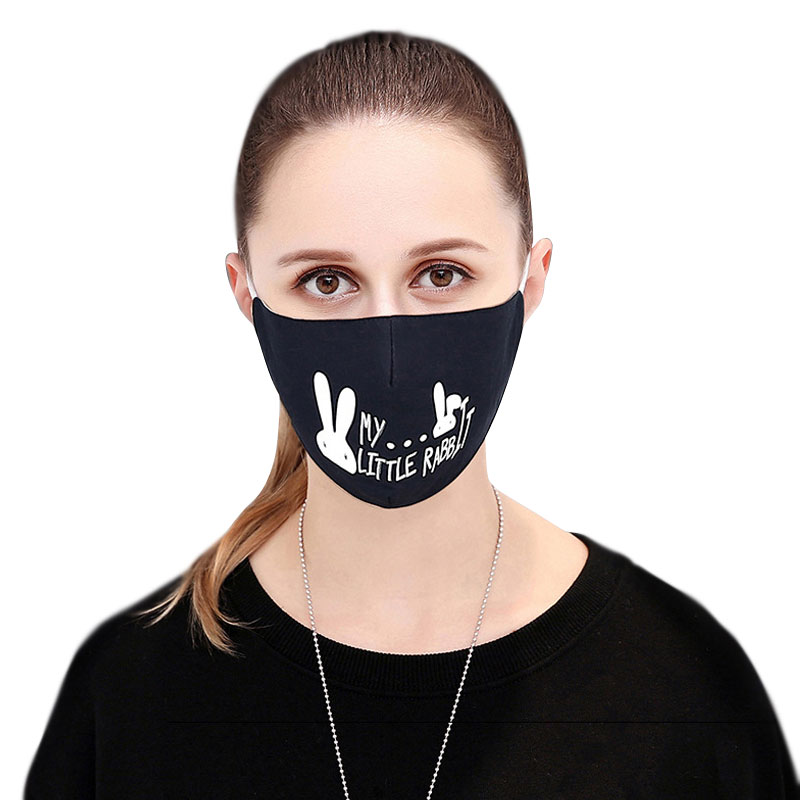 1pcs Cotton Pm2.5 Black Mouth Mask Anti Dust Mask Activated Carbon Filter Windproof Mouth-muffle Bacteria Proof Flu Face Masks For Sale Women's Masks Apparel Accessories
