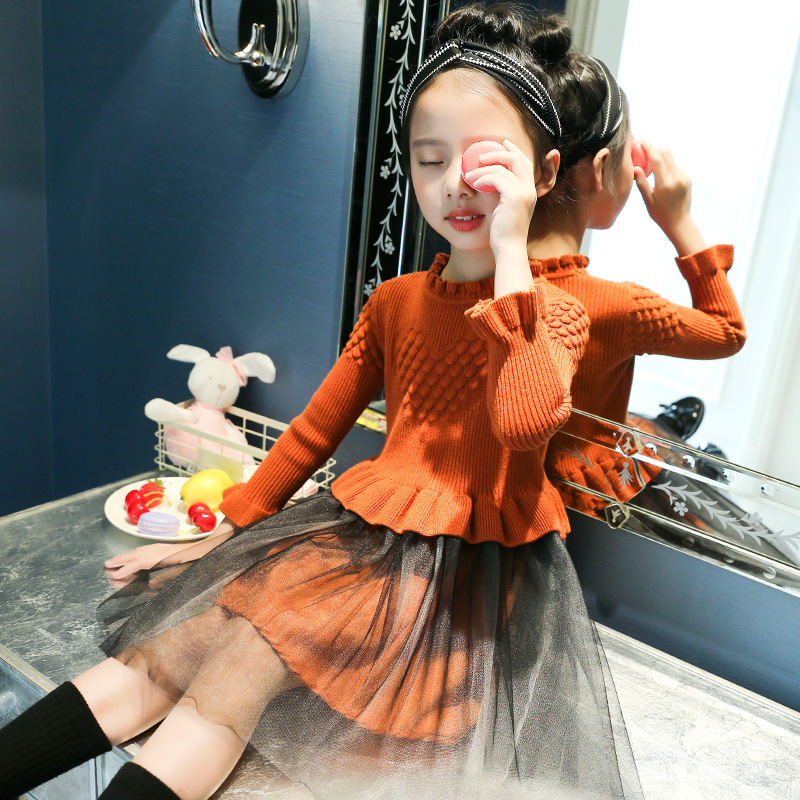 Kids Girls Sweaters 2018 Baby Girls Clothes Winter Pullover Kids Sweater Dresses For Girls Teenagers Christmas Sweater 7 8 9 10 недорого