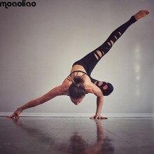 Yoga Брюки Женщин Дышащий 2017 Новый Сексуальный Тренажерный Зал Черный Запуск Тонкий Колготки Фитнес Эластичный Понимания Спортивные Леггинсы Jogger