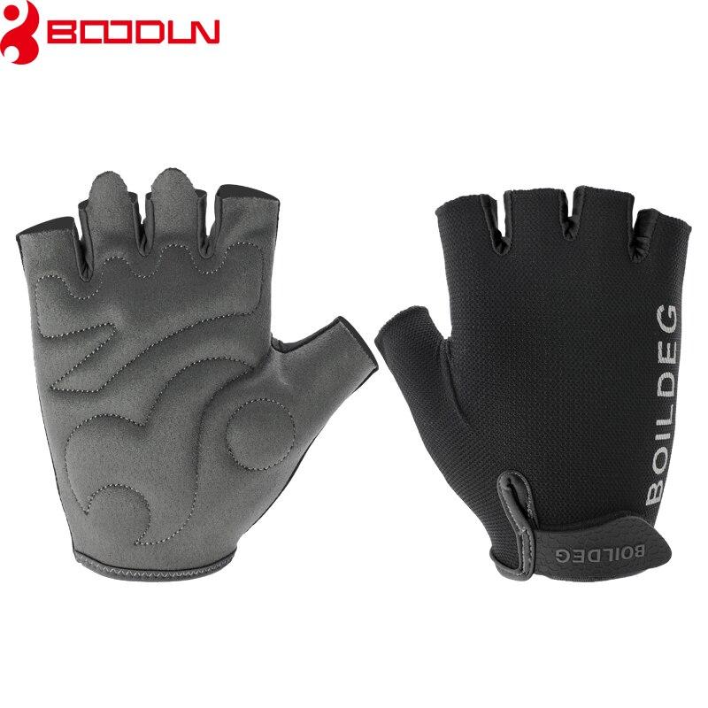Boodun Gym Gloves Men Women Body Building Half Finger Fitness Gloves Anti-slip Weight Lifting Sports Training Gloves Breathable