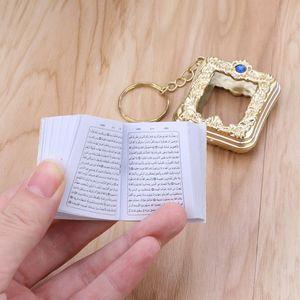 Image 4 - JACRICK 1 Pc מיני ארון קוראן ספר נייר אמיתי יכול לקרוא ערבית קוראן סגנון Keychain מוסלמי תכשיטי עבור deacoration חתונה מתנה