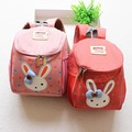 2016 милый кролик девочки школьные сумки дети рюкзаки школьный для девочки дети анти-потерянный рюкзак детский сад мешок