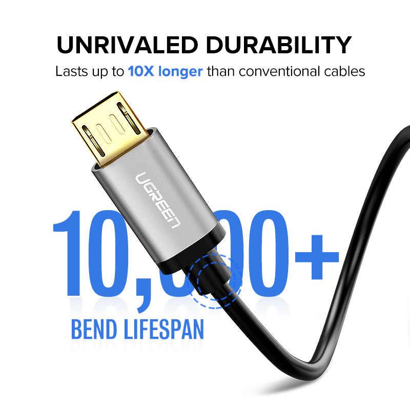يوجرين 2.4A المصغّر USB إلى كابل يو اس بي شحن سريع USB كابل بيانات ل شاومي سامسونج هواوي اللوحي أندرويد مايكرو شاحن يو اس بي الحبل