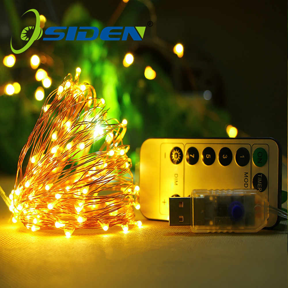 USB 8 Modes 10M 100 LED String Light Christmas Waterproof Copper Wire LED String Fairy Light Battery Powered Remote Control