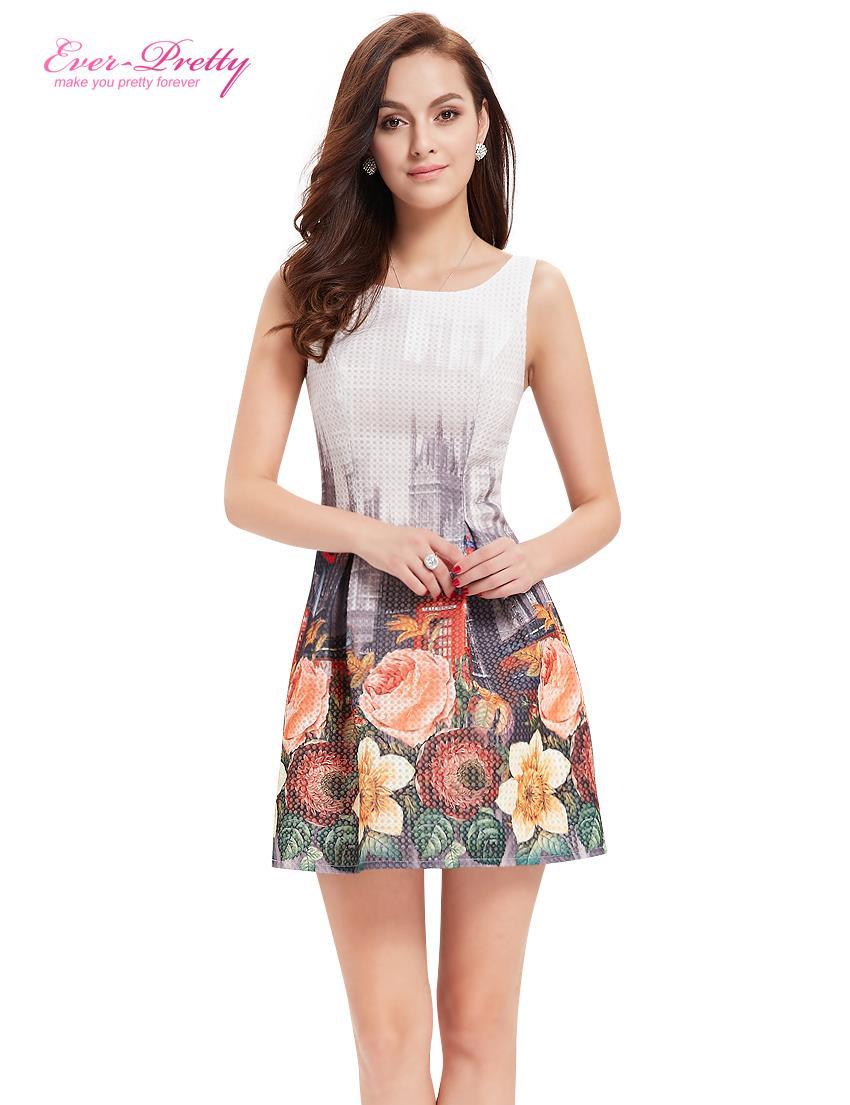 Cocktailkleider AP05320WH Immer Hübsche Frauen Sexy Blume Kleid ...