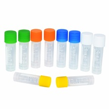 цена 1000 piece Free Shipping 1.8 ml Laboratory freezing tubes centrifuge tube for lab analysis with colorful screw cap