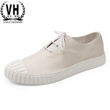 La tendenza di svago nuova primavera scarpe da uomo in pelle messo piede  comfort casual scarpe 8a19f9b70d6