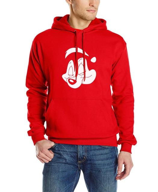Pepe Le Pew slash guns n roses men punk rock music Men funny suit brand clothing New fashion fleece hoodies hip hop sweatshirt